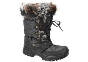 snow boot apres ski warm cosy grip ice black brown