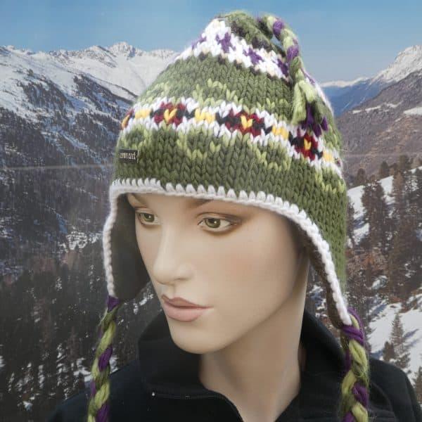 Hat heidi pattern green