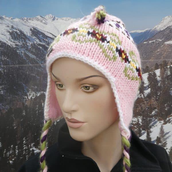 Hat heidi pattern pink