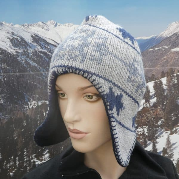 Hat heidi stitched grey