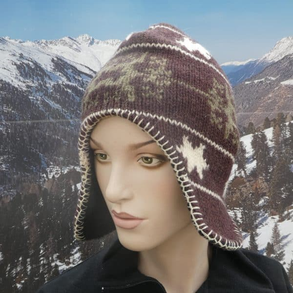 Hat heidi stitched brown