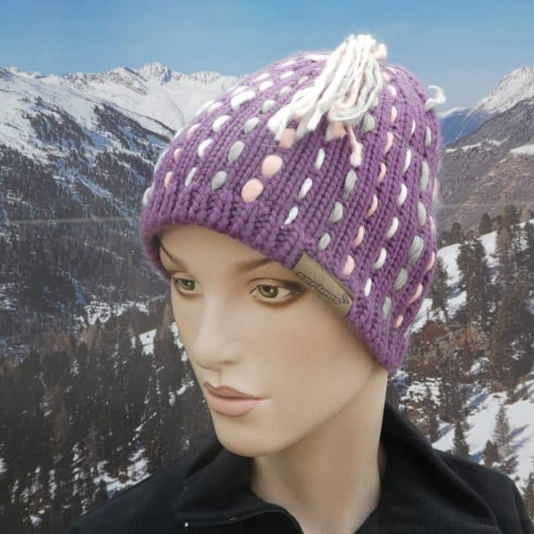 Hat knitted weave