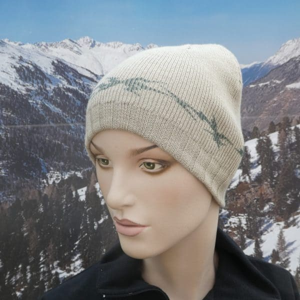 Hat simple beanie beige green