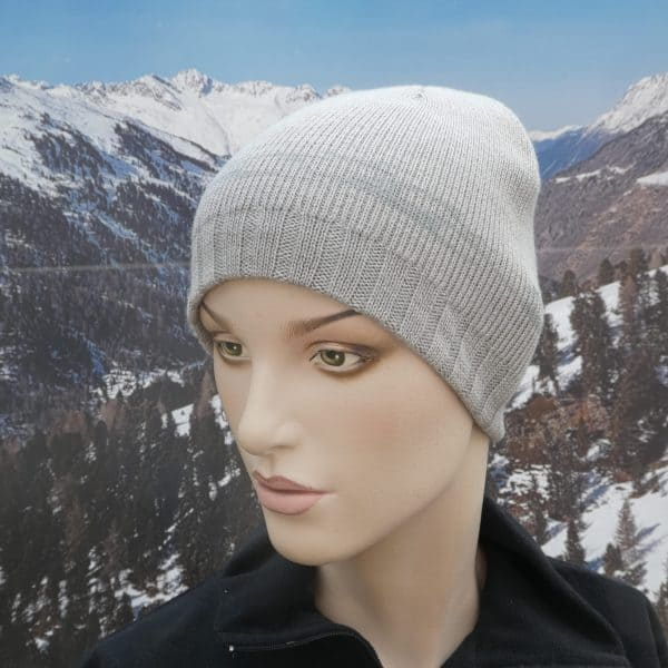 Hat simple beanie grey grey