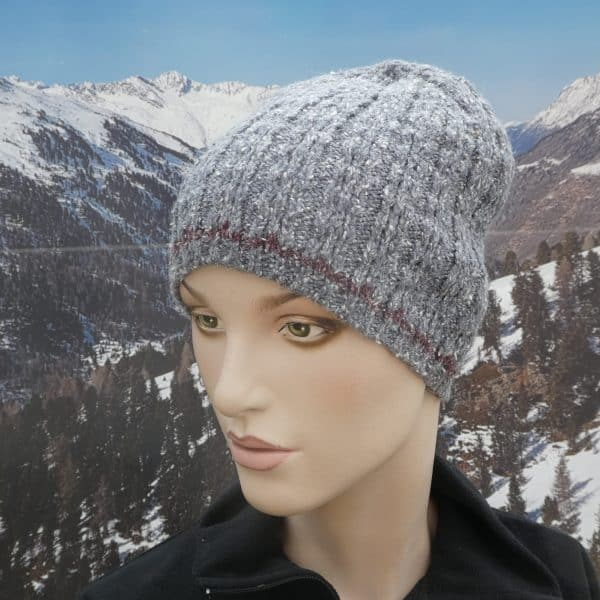 Hat simple beanie grey thin band