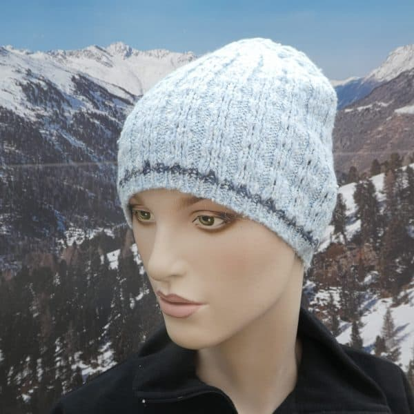 Hat simple beanie blue thin band
