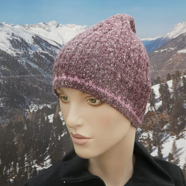 Hat simple beanie purple thin band