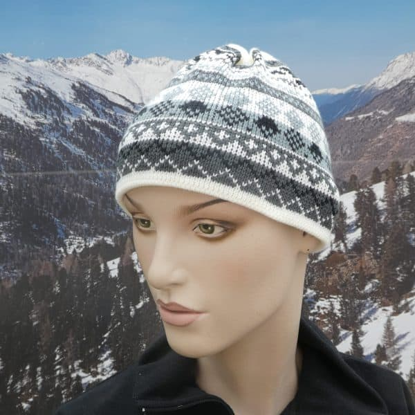 Hat tassle grey