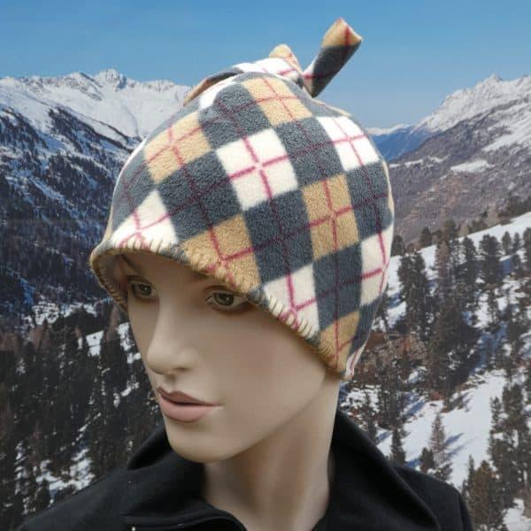 Hat fleece tartan