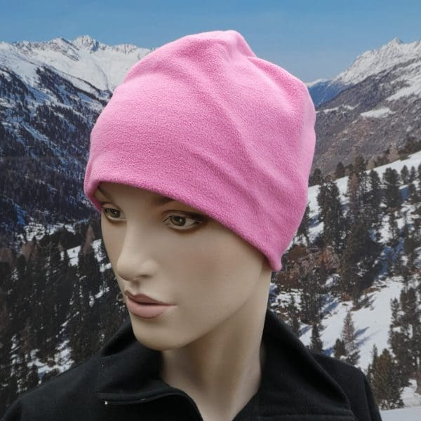 Hat fleece beany pink
