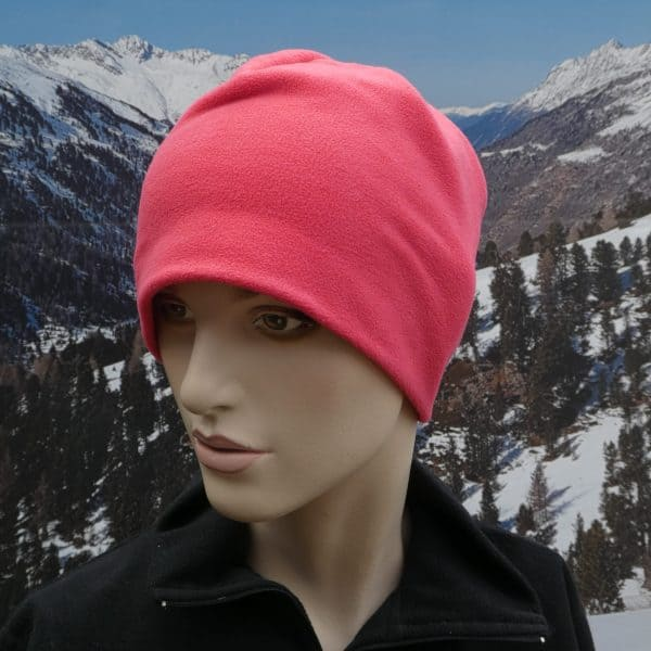 Hat fleece beany salmon