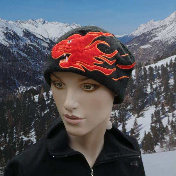 Hat fleece dragon