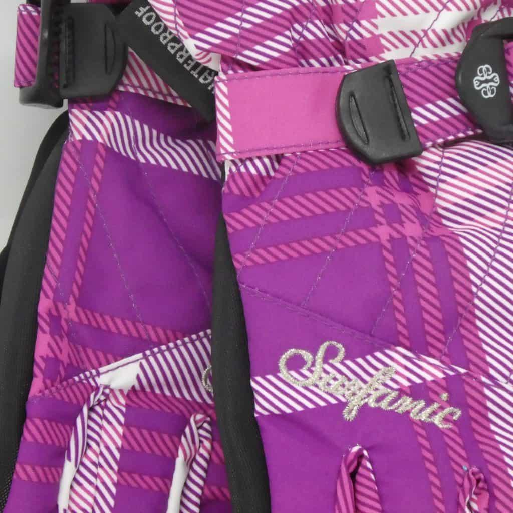 glove surfanic cushy pink tartan