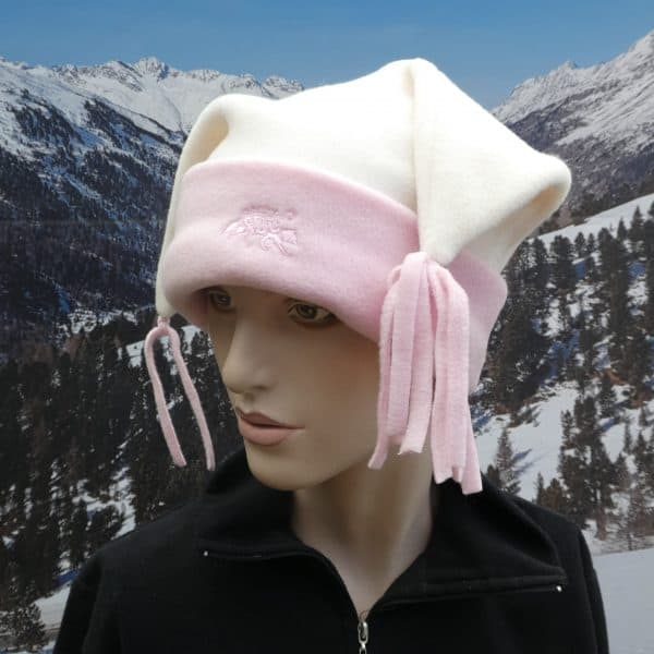 Hat cream and pink jester