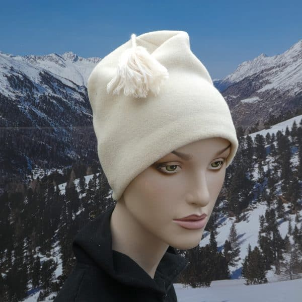 Hat plain cream