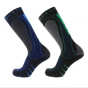 technical sinner ski socks blue green