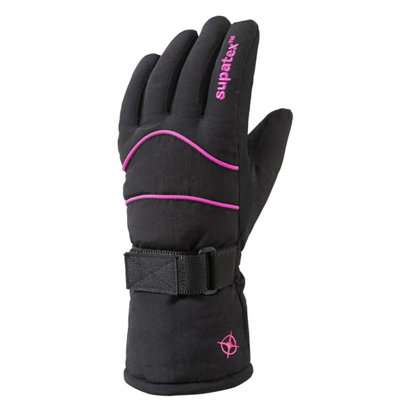 glove carve black pink