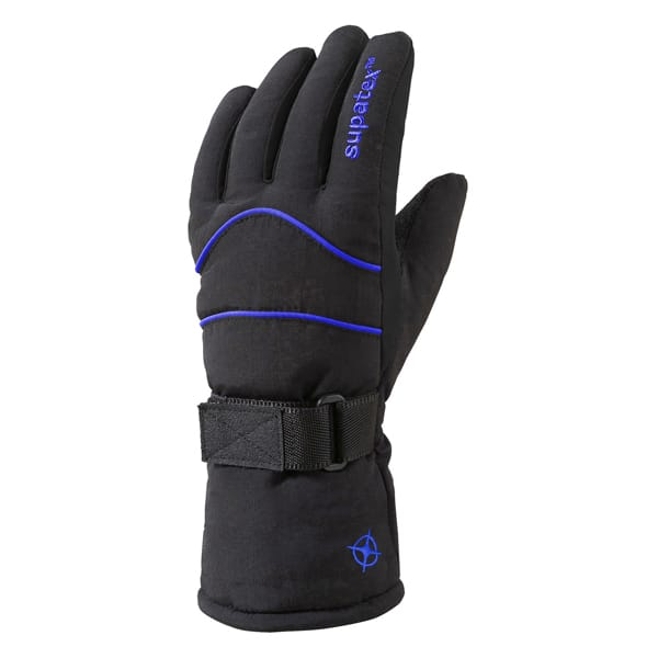 glove rocket black blue