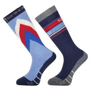 sinner pro tech sock limited edition retro usa dark blue light blue