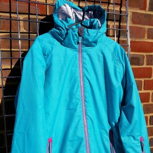 junior female ski jacket surfanic ada blue