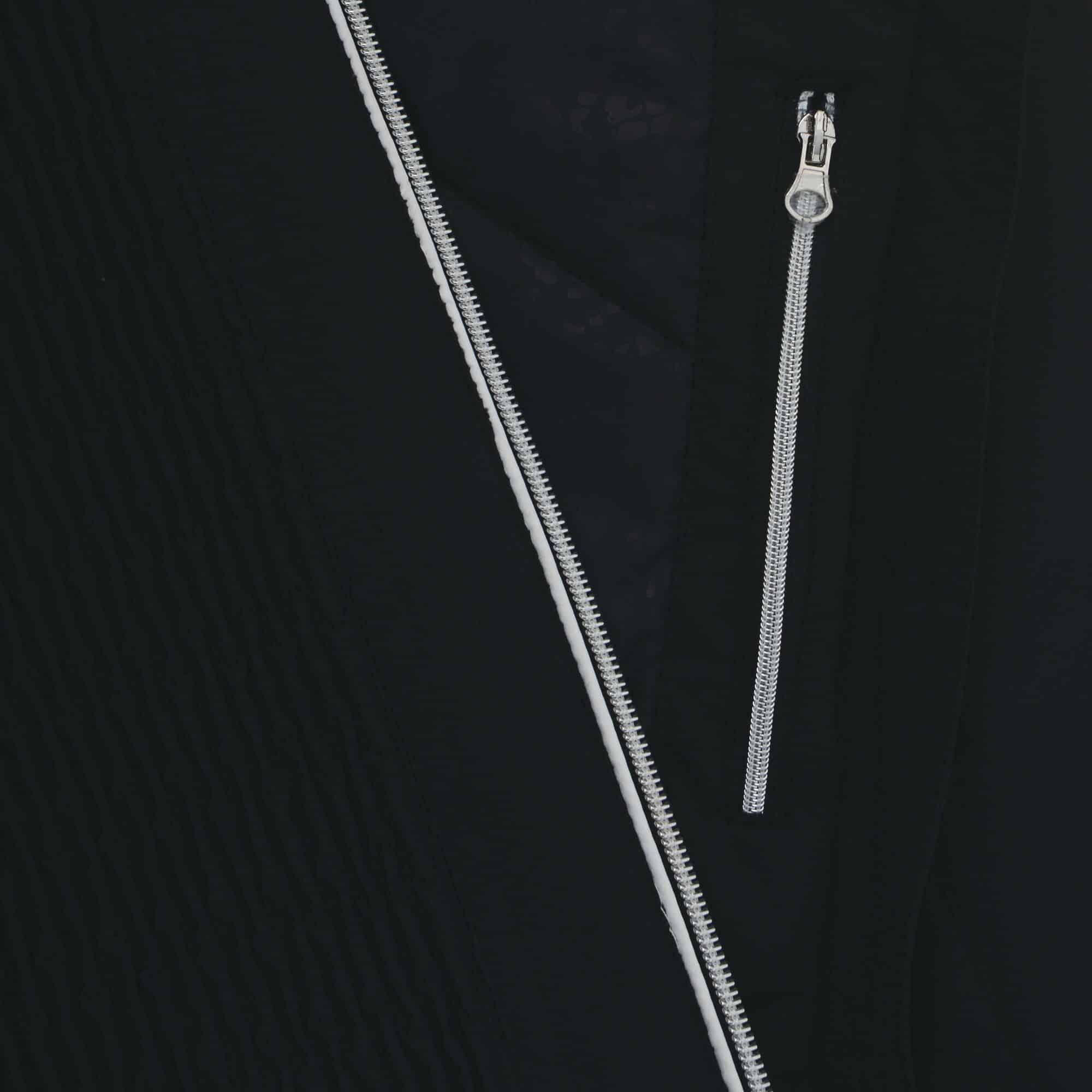 statement black zip