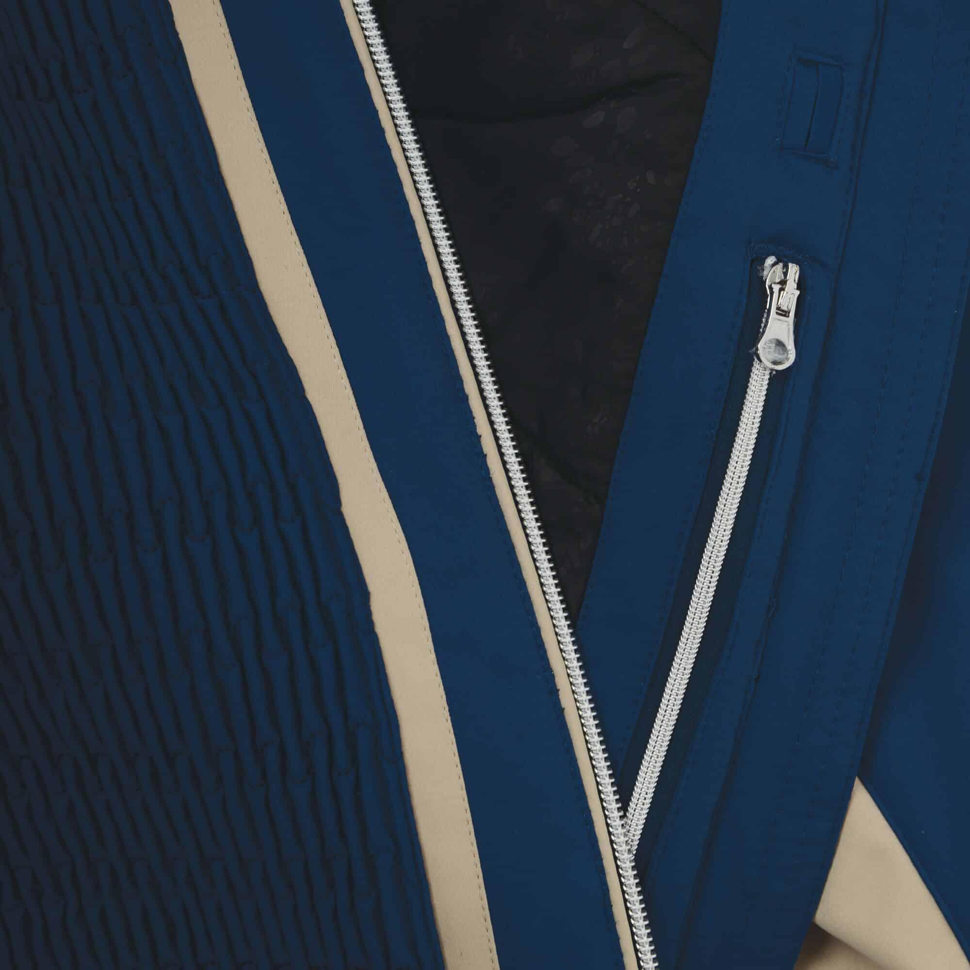 statement blue zip